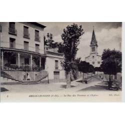 66 - Amélie les Bains - Rue des thermes et eglise