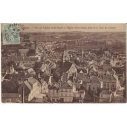 91 - Etampes - Vue sur l'eglise Saint Basile