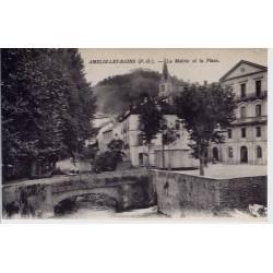 66 - Amélie les Bains - La mairie et la place