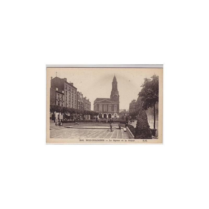 92 - Bois Colombes - Le square et la mairie
