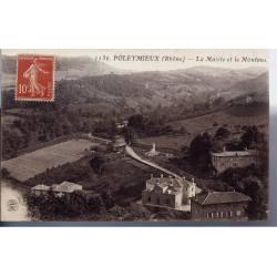69 - Poleymieux - La mairie et le Montoux