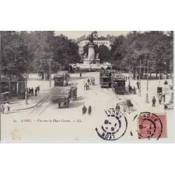 69 - Lyon - Vue vers la place carnot - Tramways