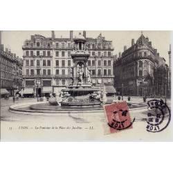 69 - Lyon - Fontaine et place des Jacobins