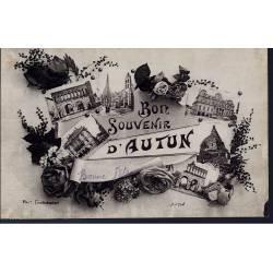71 - Bon souvenir d'Autun - Multiviue - Roses