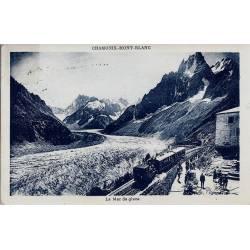 74 - Chamonix - Mer de glace et Gare et train