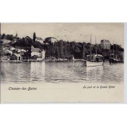 74 - Thonon les bains - Le port et le grand hotel