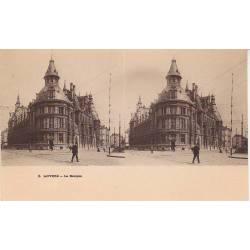 Belgique - Anvers - La banque - Vue stéréoscopique