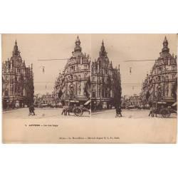 Belgique - Anvers - La rue Leys Vue stéréoscopique