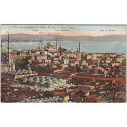 Turquie - Constantinople - Vue de Sultan Ahmed