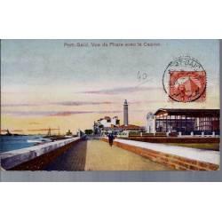 Egypte - Port Saïd - Vue du phare avec le casino