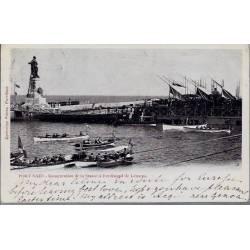 Egypte - Port Saïd - Inauguration de la statue à..