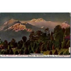Inde - Darjeeling - Sunset on range