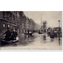 Paris - Inondations 1910 Quai des Grands Augustins