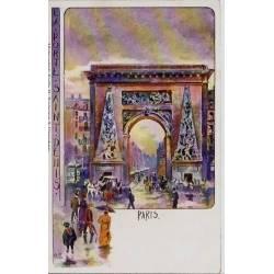 Paris - La porte Saint-Denis - Dos non divisé