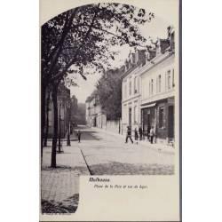 68 - Mulhouse - Place de la paix et rue de Byon  -Non voyagé - Dos  divisé