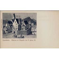 68 - Eguisheim - Château et chapelle de S. Léon IX - Non voyagé - Dos divisé