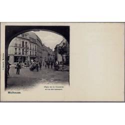 68 - Mulhouse - Place de la Concorde et rue des tanneurs -Non voyagé - Dos div