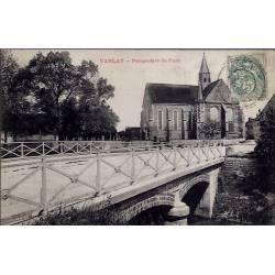 10 - Vanlay - Perspective du pont - Voyagé - Dos divisé