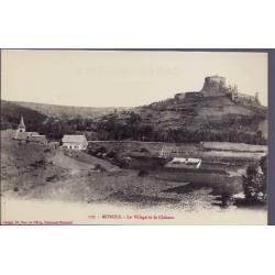 12 - Murols - Le village et le château - Non voyagé - Dos divisé