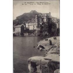 12 - Espallon - Vieux palais de justice - En haut : ruines du château de Calmo