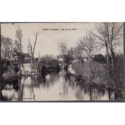16 - Aigre  ( Charente) - Vue sur le Gord - Voyagé - Dos divisé