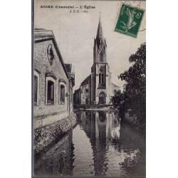 16 - Aigre  ( Charente ) L'église - Voyagé - Dos divisé