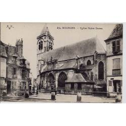 18 - Bourges - Eglise Notre Dame - Voyagé - Dos divisé