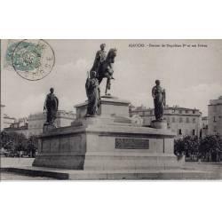 20 - Ajaccio - Statues de Napoléon Ier et ses frères - Voyagé - Dos non divisé