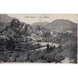 20 - Corte -Corse - Vue générale - Voyagé - Dos divisé