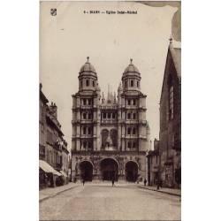 21 - Dijon - Eglise Saint-Michel - Voyagé - Dos divisé