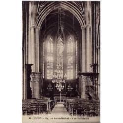 21 - Dijon - Eglise Saint-Michel - Vue intérieure - Non voyagé - Dos divisé