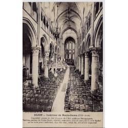 21 - Dijon - Intérieur de Notre-Dame ( XIIIeme siècle) - Non voyagé - Dos divi
