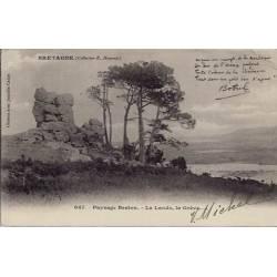22 - Bretagne - Paysage breton - La lande, la grève - Voyagé - Dos non divisé