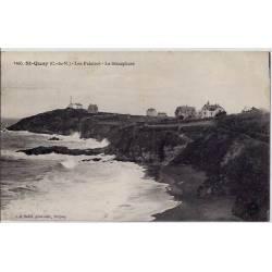22 - St Quay - Les falaises - Le sémaphore - Voyagé - Dos divisé