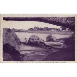 22 - Trégastel - Les hôtels et villas de la plage vus du petit gouffre - Voyag