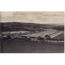 23 - Camp de la courtine (creuse) - 1ere brigade d'Artillerie - Voyagé - Dos d