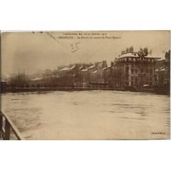 25 - Besançon - Innondations des 20 et 21 janvier 1910 - Le doubs en amont du