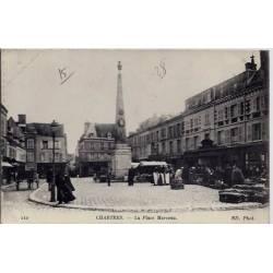 28 - Chartres - La place Marceau - Voyagé - Dos divisé