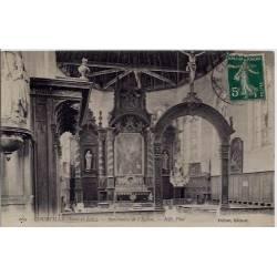 28 - Courville - Sanctuaire de l'église - Voyagé - Dos divisé