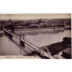 31 - Toulouse - Vue générale et Pont St-Pierre - Non voyagé - Dos divisé