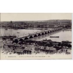 33 - Bordeaux - Le pont de la ville pris de la tour Saint-Michel - Non voyagé