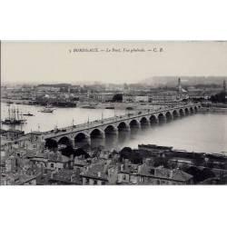 33 - Bordeaux - Le pont - Vue générale - Non voyagé - Dos divisé
