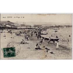 34 - Cette - La plage - Voyagé - Dos divisé