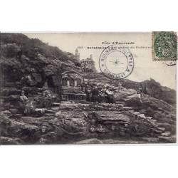 35 - Rotheneuf - Côte d'Emeraude - Vue générale des rochers sculptés - Voyagé