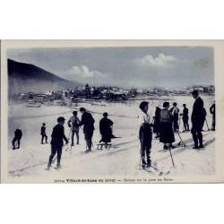 38 - Villard-de-lans - En hiver - Skieurs sur la piste des bains - Voyagé - Do