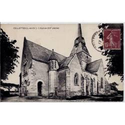 41 - Cellettes - Eglise  XVeme siècle - Voyagé - Dos divisé