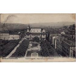 42 - Saint-Etienne - Place Marengo - La préfecture - Voyagé - Dos divisé