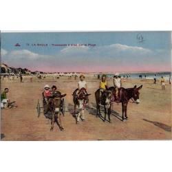44 - La baule - Promenade à ânes sur la plage -Non voyagé - Dos divisé