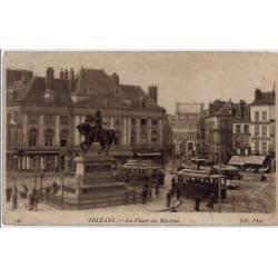 45 - Orléans - La place du Martroi - Voyagé - Dos divisé