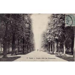 51 - Reims - Grande allée des promenades - Voyagé - Dos non divisé